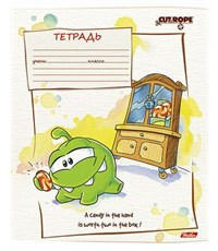 Фото 3. Тетрадь школьная Hatber CUT THE ROPE 18л А5ф линия