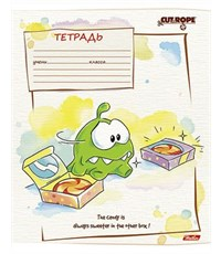 Фото 4. Тетрадь школьная Hatber CUT THE ROPE 18л А5ф линия