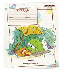 Фото 5. Тетрадь школьная Hatber CUT THE ROPE 18л А5ф линия