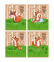 "Тетрадь 24л., линия BG ""Funny Fox"""