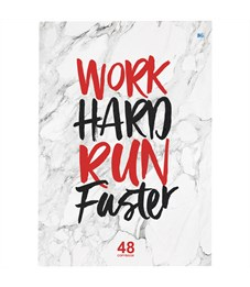"Тетрадь 48л., А4, клетка BG ""Work hard"""