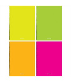 "Тетрадь 60л., А4, клетка на гребне Erich Krause ""Neon"", пластиковая обложка"