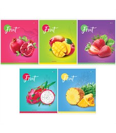 "Тетрадь 60л., А5, клетка ArtSpace ""Фрукты. Colorful fruits"", ВД-лак"