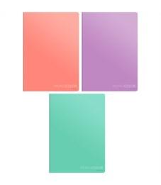 """Тетрадь 80л., А4, клетка ArtSpace """"Моноколор. Pale color"""", ВД-лак"""