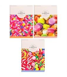 """Тетрадь 80л., А4, клетка ArtSpace """"Стиль. Funny sweets"""", ВД-лак"""