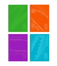 "Тетрадь 80л., А4, клетка на гребне BG ""Design modern"", матовая ламинация, выб.лак, твердая обложка"