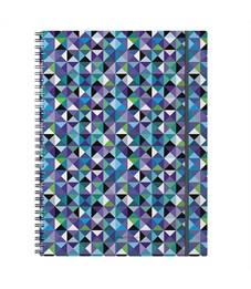 """Тетрадь 80л., А4, клетка на гребне Erich Krause """"Cubes"""", пластиковая обложка, на резинке"""
