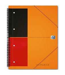 """Тетрадь 80л., А4+, линия на гребне Oxford """"InternationalMeetingBook"""", 80г/м2, пл.обл, на рез, перф"""