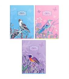"Тетрадь 96л., А4, клетка ArtSpace ""Цветы. Birds in flower"", ТВИН-лак"