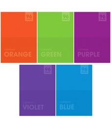 "Тетрадь 96л., А4, линия ArtSpace ""Моноколор. Яркие цвета"""