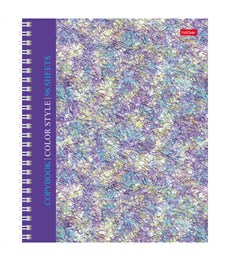 """Тетрадь 96л., А5, клетка на гребне Hatber """"Color book"""", твердая обложка"""
