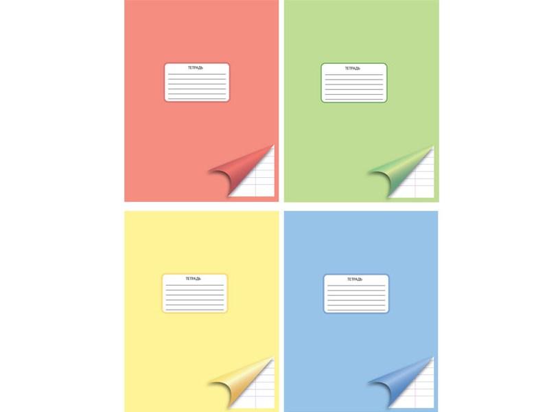 Тетрадь ACTION школьная, линейка, мелов. картон, А5, 12 л., в ассорт. AN1201/1M