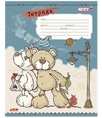 Фото 4. Тетрадь школьная Hatber Любимые мишки клетка, 12л.