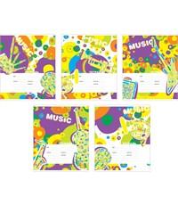 Тетрадь школьная Полиграфика Музыка вокруг линия 24 листа, А5
