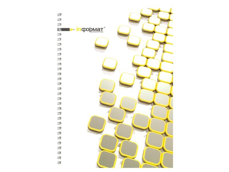 Тетрадь школьная inФОРМАТ Informat Placer, в клетку, 80 л, А4, на спирали