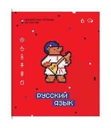 """Тетрадь предметная 48л. ArtSpace """"My game"""" - Русский язык, ВД-лак"""