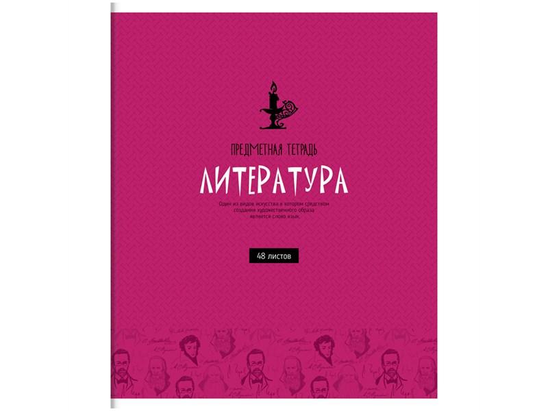 """Тетрадь предметная 48л. ArtSpace """"Оттенки знаний"""" - Литература, ВД-лак"""