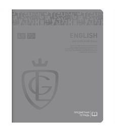 "Тетрадь предметная 48л. Greenwich Line ""Royal Book"" - Английский язык, ламин., выб. уф-лак, 70г/м2"