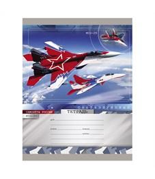 Тетрадь Проф-Пресс Сверхзвуковые самолёты Mig-29 Красный 18 листов клетка