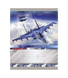 Тетрадь Проф-Пресс Сверхзвуковые самолёты SU-27 18 листов клетка