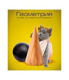 Тетрадь schoolФОРМАТ Учёные коты Геометрия 40 л.