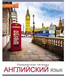 Тетрадь школьная Английский язык Проф-пресс Мир вокруг нас 48 л