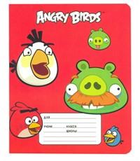 Тетрадь школьная Hatber Angry Birds, клетка, 12 л.