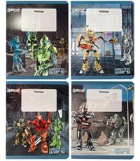 Тетрадь школьная в клетку Techno Wars, 12листов, картон. обложка