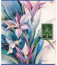 Тетрадь школьная Альт Райские Цветы, 24 листа, обл. фольга в клетку