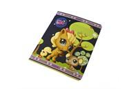 Тетрадь школьная Академия Холдинг Littlest Pet Shop, в линейку, 12 листов, картонная обложка