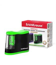 Электрическая точилка Erich Krause Compact с контейнером, одно отверстие