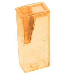 Точилка Faber-Castell, оранжевая, с контейнером, 1 отв., 581525