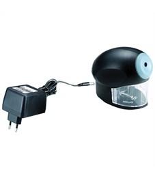 Точилка электрическая 220В KW-trio, 1 отверстие, с контейнером, пластиковая, черная