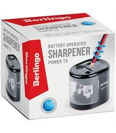 """Точилка электрическая Berlingo """"Power TX"""", черная, 2 отверстия, с контейнером, картон. уп."""