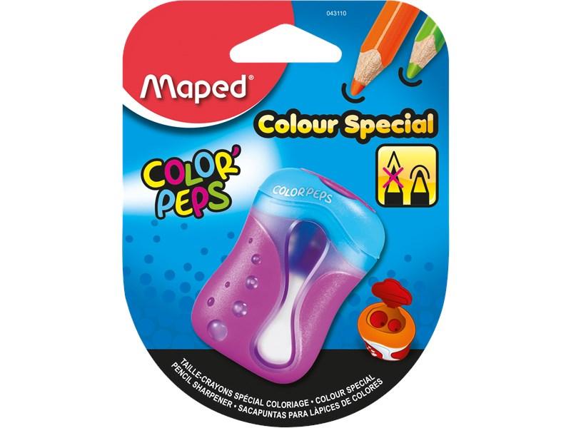 Точилка Maped Color'Peps для цветных карандашей, 2 отверстия, с контейнером