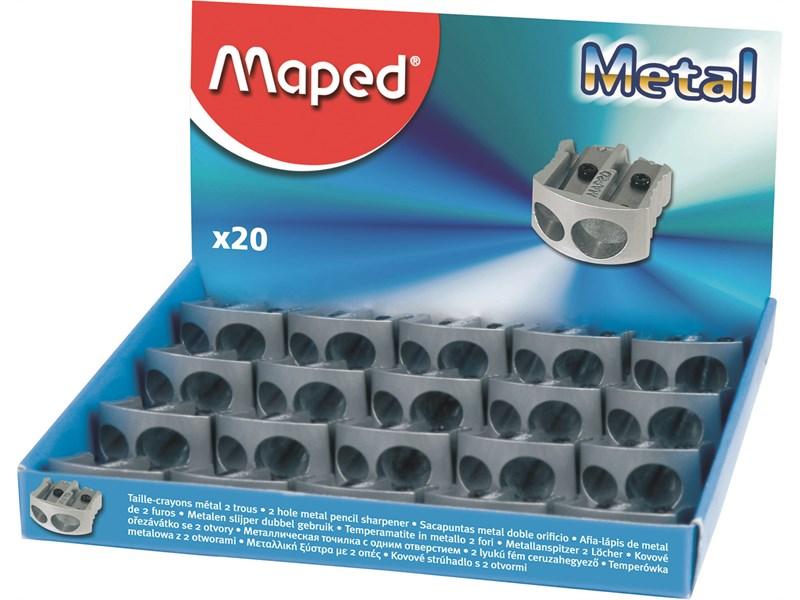Точилка металлическая Maped Metal, 2 отверстия