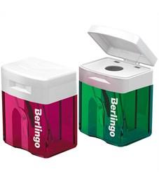 Фото 2. Точилка пластиковая Berlingo, 1 отверстие, контейнер, ассорти
