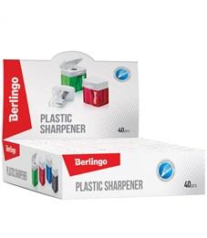 Фото 3. Точилка пластиковая Berlingo, 1 отверстие, контейнер, ассорти