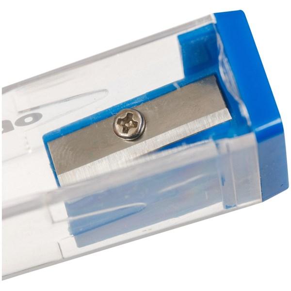 """Точилка пластиковая Berlingo """"Classic Pro"""", 1 отверстие, контейнер, ассорти"""