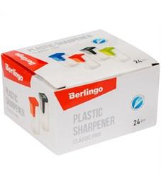 """Фото 3. Точилка пластиковая Berlingo """"Classic Pro"""", 1 отверстие, контейнер, ассорти"""