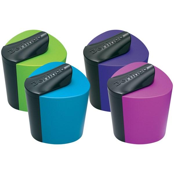 """Точилка пластиковая Berlingo """"Color Zone"""", 1 отверстие, контейнер, ассорти"""