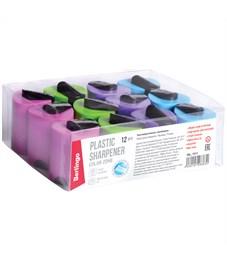 """Фото 6. Точилка пластиковая Berlingo """"Color Zone"""", 1 отверстие, контейнер, ассорти"""