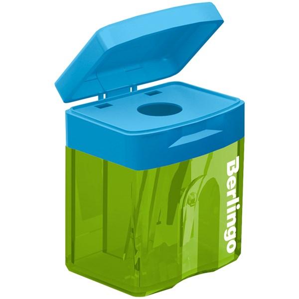 """Точилка пластиковая Berlingo """"Fuze"""", 1 отверстие, контейнер"""