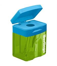 """Фото 2. Точилка пластиковая Berlingo """"Fuze"""", 1 отверстие, контейнер"""