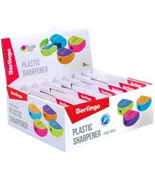 """Фото 3. Точилка пластиковая Berlingo """"Fuze Ergo"""", 1 отверстие, контейнер, ассорти, блистер, европодвес"""