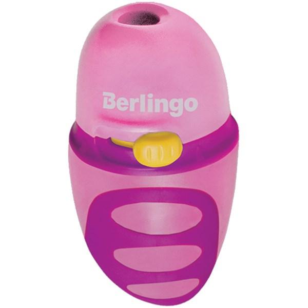 """Точилка пластиковая Berlingo """"Riddle"""" 1 отверстие, c регулятором заточки грифеля, контейнер"""