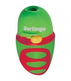 """Фото 2. Точилка пластиковая Berlingo """"Riddle"""" 1 отверстие, c регулятором заточки грифеля, контейнер"""