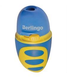 """Фото 4. Точилка пластиковая Berlingo """"Riddle"""" 1 отверстие, c регулятором заточки грифеля, контейнер"""