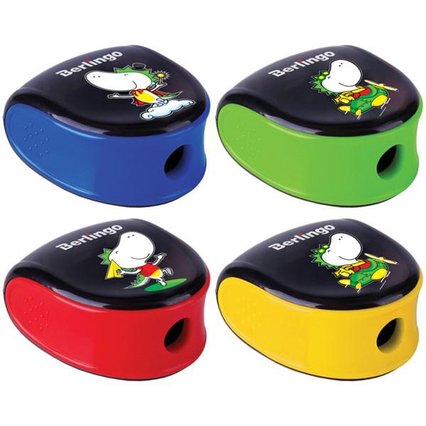"""Точилка пластиковая Berlingo """"Tiny Dragon"""" 1 отверстие, контейнер, дисплей"""