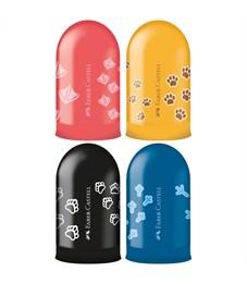 """Точилка пластиковая Faber-Castell """"Jelly"""", 1 отверстие, контейнер, ассорти"""